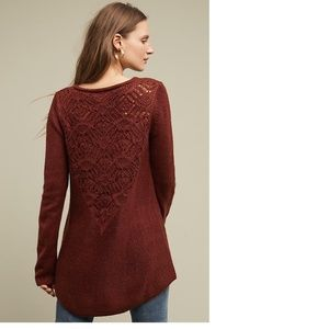 Anthropologie Maddy Pointelle-Back Tunic